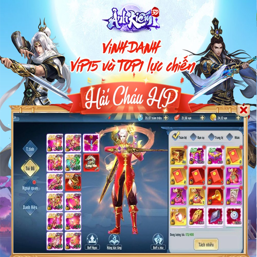 VINH DANH- TOP1 LỰC CHIẾN VÀ VIP15 ĐẦU TIÊN TOÀN SERVER - 1