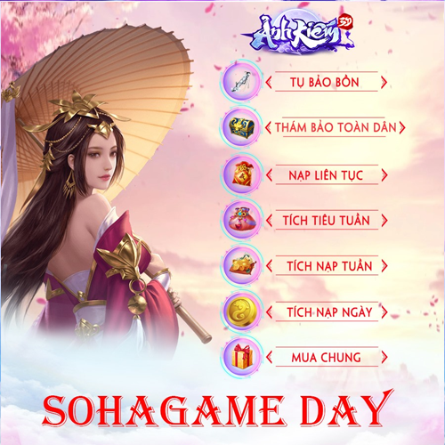HOT EVENT- SOHAGAME DAY THÁNG 11 - 1