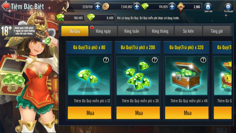 [Tính Năng] Tiệm Đặc Biệt Game Loạn Thế Anh Hùng 3Q - 3