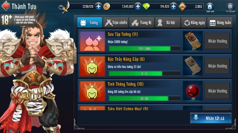 [Hoạt Động] Thành Tựu Trong Game Loạn Thế Anh Hùng 3Q - 2