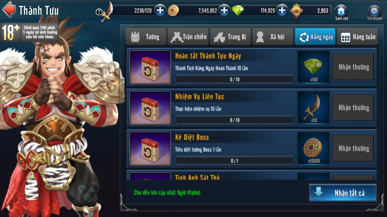 [Hoạt Động] Thành Tựu Trong Game Loạn Thế Anh Hùng 3Q - 3